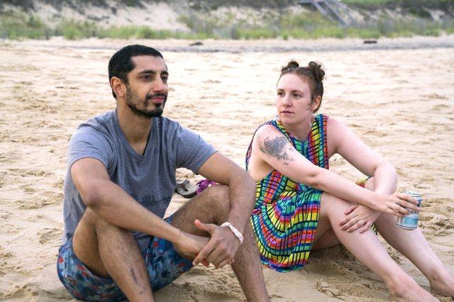 GIRLS  Season 6, Episode 1: Debut 2/12/17 Episode 53 (season 6, episode 1), debut 2/12/17: Riz Ahmed, Lena Dunham. photo: Mark Schafer/HBO